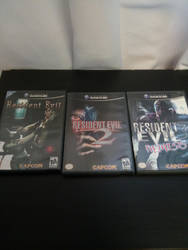 my 3 Resident Evil games by chrisredfield1994