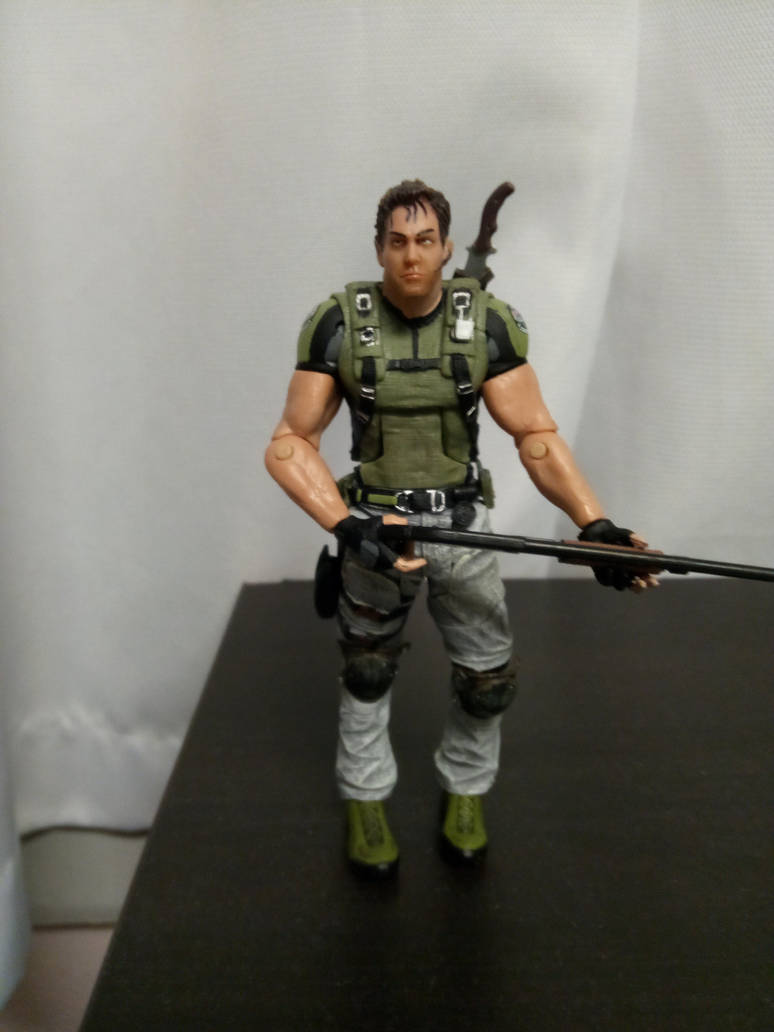 Chris Redfield action figure by chrisredfield1994
