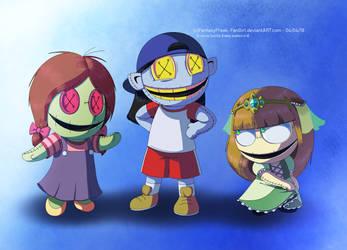 The Forgotten Trio's Original Designs by FantasyFreak-FanGirl