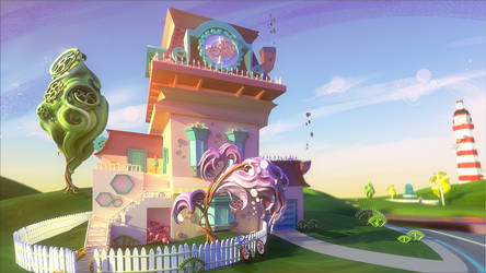 Hexagon - House / Maison by griffon3d