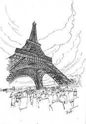 Paris Sketch by jimmybott