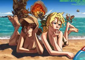 Metal Slug Beach Party by KNKL
