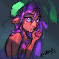 Ashar the dragon girl - YOUTUBE! by KNKL
