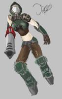 Quake 3 Fan art Crash by FrostyBlade