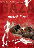 Gaza under fire by noor-maryam