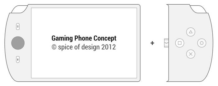 Handheld Games Console Phone Concept by spiceofdesign