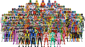 All of Super Sentai by Taiko554