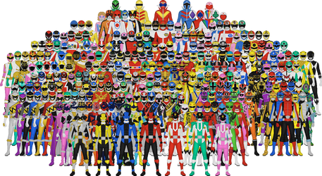 All of Super Sentai by Taiko554