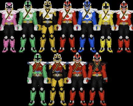 Power Rangers Samurai Super Mega Mode by Taiko554