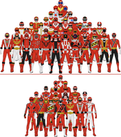 All Super Sentai and Power Rangers Reds by Taiko554
