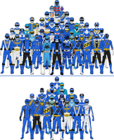 All Super Sentai and Power Rangers Blues by Taiko554