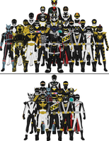 All Super Sentai and Power Rangers Blacks by Taiko554