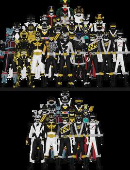 All Super Sentai and Power Rangers Blacks by Taiko554