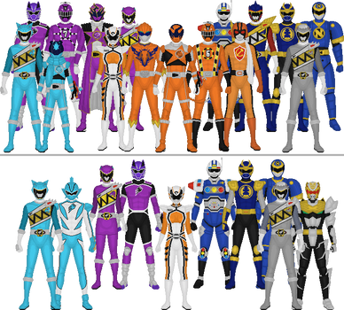 All Super Sentai and Power Rangers Assorted Colors by Taiko554