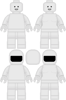 Template For LEGO Minifigs By Taiko554