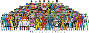All Power Rangers by Taiko554
