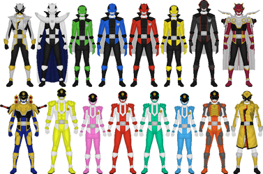 Additional LuPat Rangers by Taiko554
