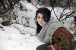 Katniss Everdeen- Winter Snow by moonflower-lights