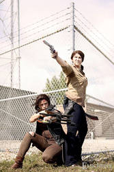 Rick and Daryl- Taking the Prison by moonflower-lights