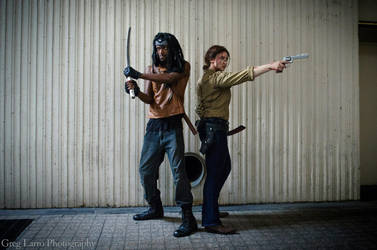 Got Your Back- Rick Grimes and Michonne by moonflower-lights