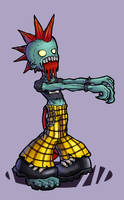 Punk Zombie by cheesyniblets