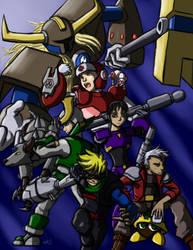 Mega Man inspired DnD Campaign Poster by djantir