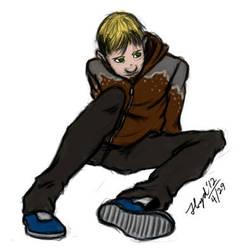 Garasu: Sitting Around by djantir