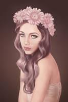 Flower woman by kataneriel
