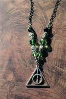 Slytherin House Deathly Hallows Necklace by KouranKiyo