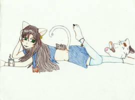 Neko Girl by Zensoukyoku