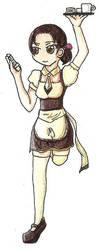 Waitress Doodle by Zensoukyoku