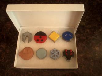 Pokemon Johto Badges by Zensoukyoku