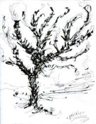 Tree'N 'Ktober - Day 25  - Prickly by Kakhi-dot-dot-dot