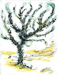 Tree'N 'Ktober - Day 25  - Prickly Tree by Kakhi-dot-dot-dot