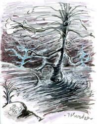 Tree'N 'Ktober - Day 27 - Thunder by Kakhi-dot-dot-dot