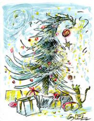 Tree'N 'Ktober - Day 28 - Gift / Cadeau by Kakhi-dot-dot-dot