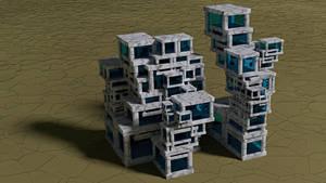 Cubic apartment building by kronpano