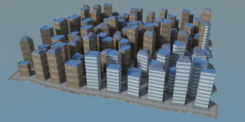LineOffsetCityScape by kronpano