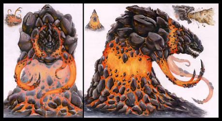 Tephralles the Clastic Monster by KillustrationStudios