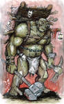 Miggy, The Half Orc Champion of the Dry Steppes by KillustrationStudios