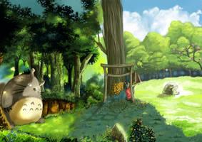 Totoro by alexandresama