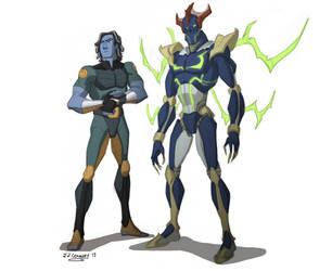 ReBoot Redesigns - Bob and Megabyte by JJConway