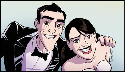 Josh's Wedding - Bride and Groom by JJConway