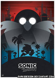 Sonic the Hedgehog Minimalist Poster by DarkoDesign