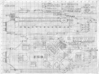 Noeir Light Cruiser/Battle Carrier Atkins by AzabacheSilver