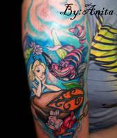alice in wonderland tattoo by Talaanita