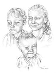 Portrait - three children by TracieMacVean