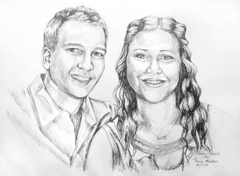 Portrait - Emily and Charlie. by TracieMacVean