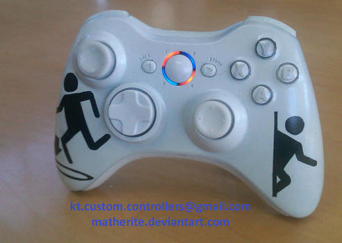 Portal Xbox 360 Controller by matherite