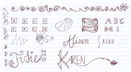 Girl's Names + Sketches by christopherhester